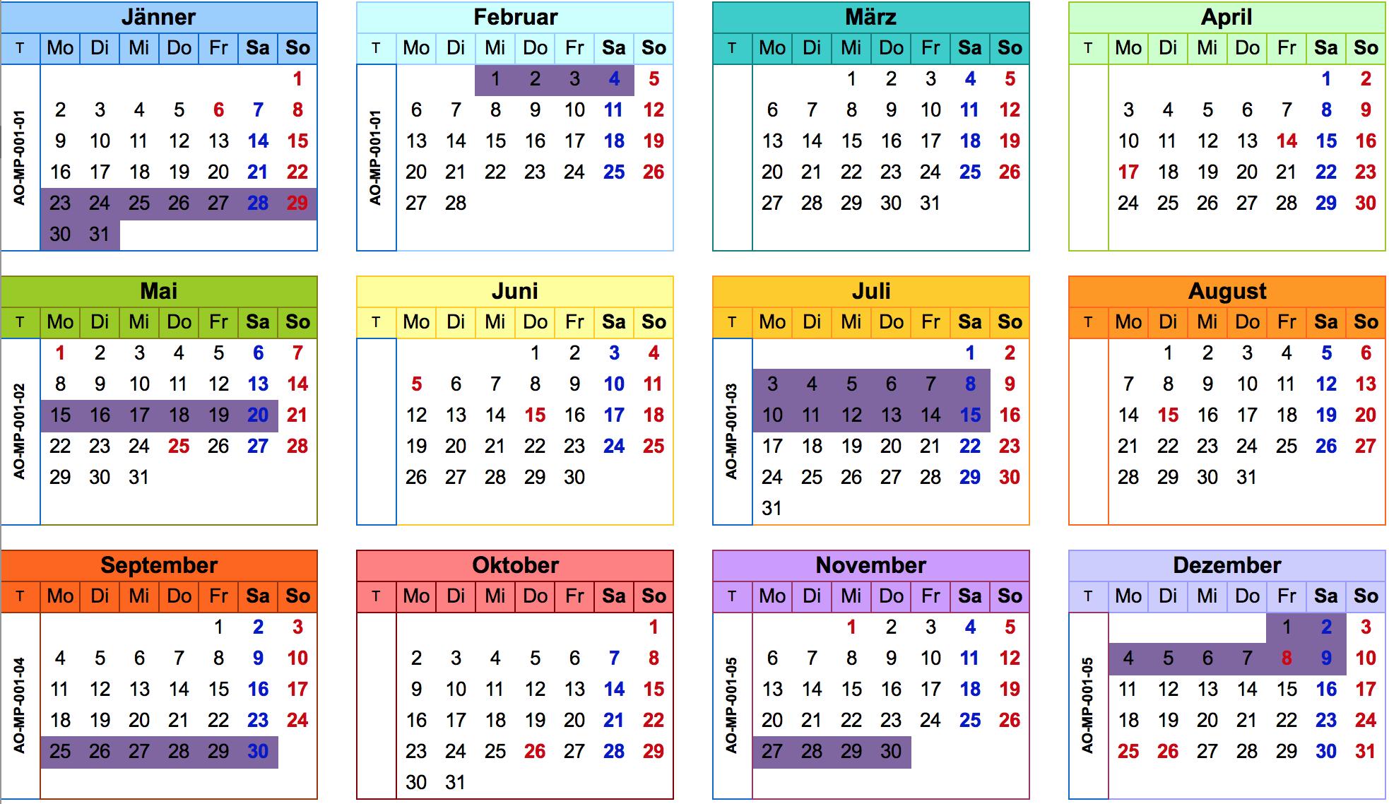 Kalender 2017 Augenoptikermeister