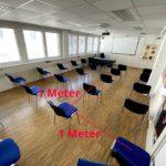 Klassenzimmer 1 Meter Regel